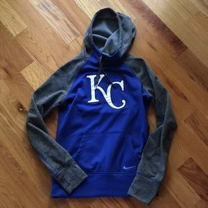 Like New! Nike KC Royals fleece lined hoodie small